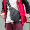 Image of Mens Compact Single Shoulder  Waterproof Nylon Crossbody  Messenger Bag