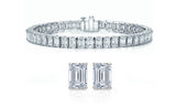 Luxury Emerald Cut Tennis Bracelet and Earrings Set
