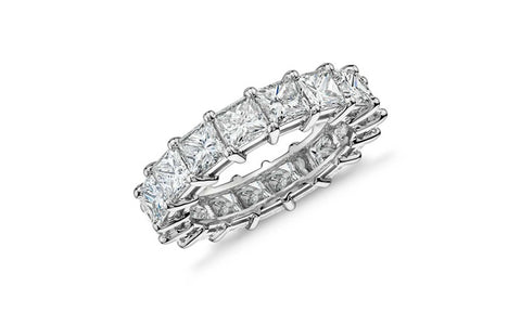 5.00 Carat Princess-Cut Eternity Ring