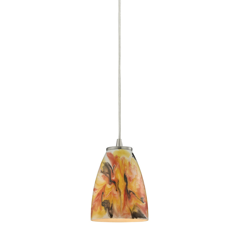 Abstractions 1 Light Pendant In Satin Nickel - Satin Nickel