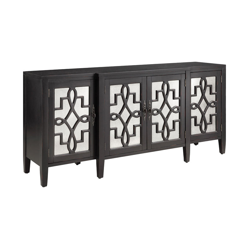 Lawrence Cabinet in Antique Mirror,Black