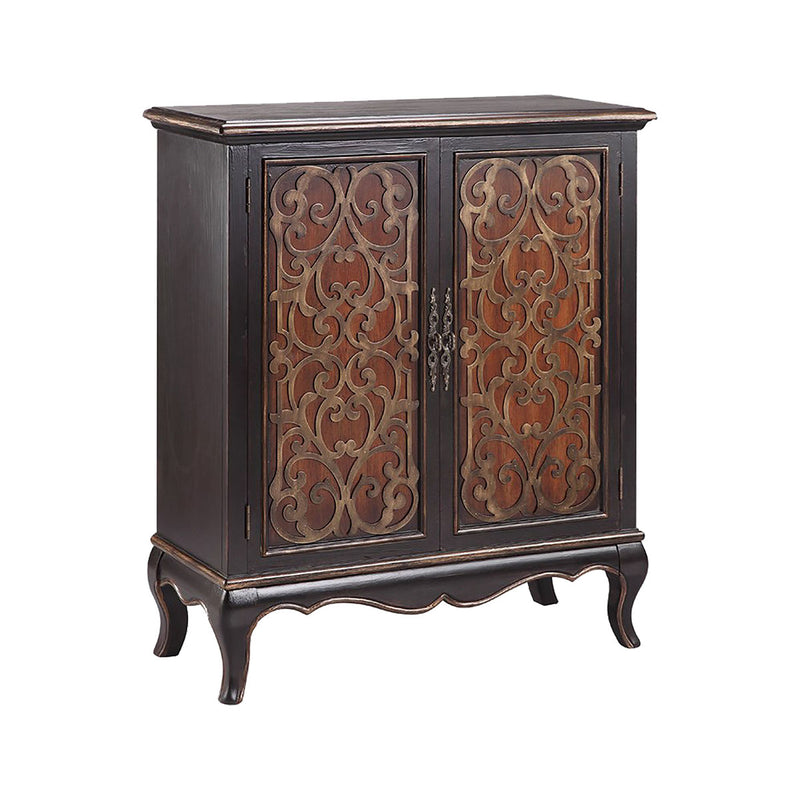 Jamie Cabinet in Antique Black,Golden Brown