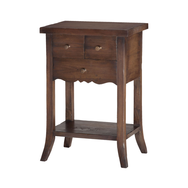 3-Drawer East Hampton Side Table - Heritage Grey Stain