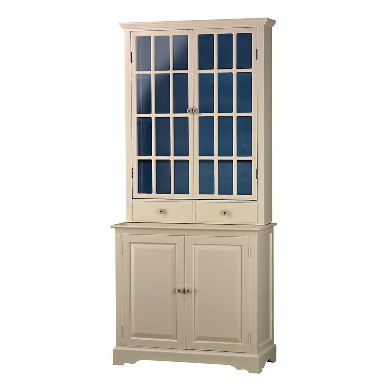 ANTIQUE CREAM kITCHNE UNIT WITH NAVY - ANTIQUE CREAM / NAVY