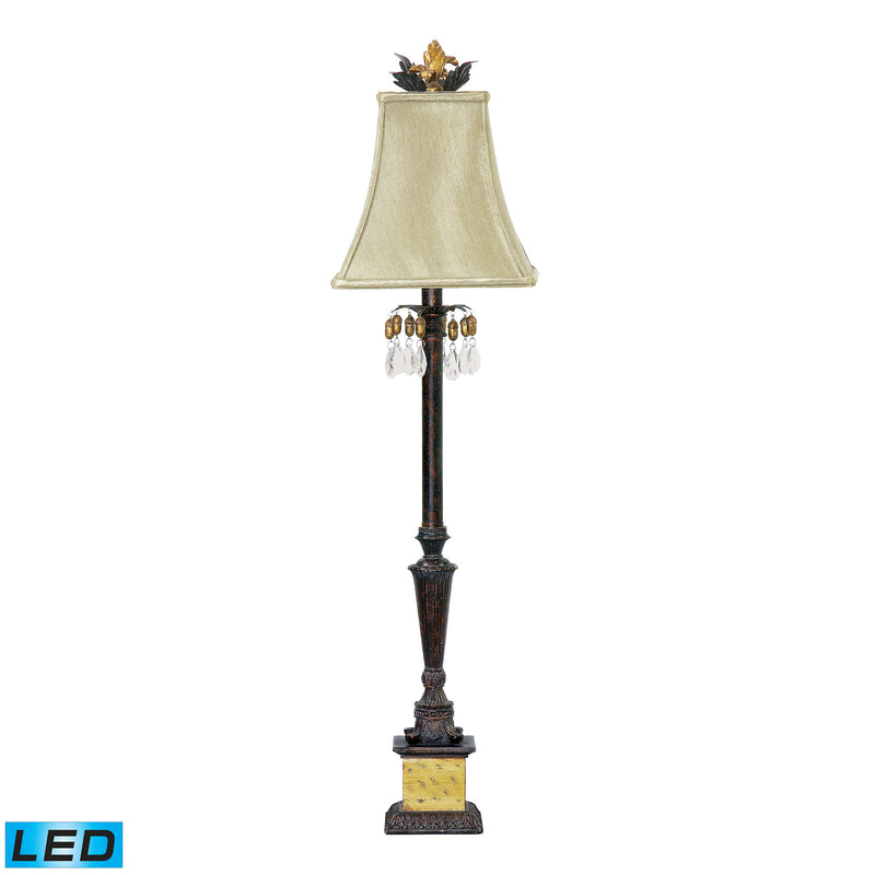 Acorn Drop 1 Light LED Table Lamp in Black And Gold - Black