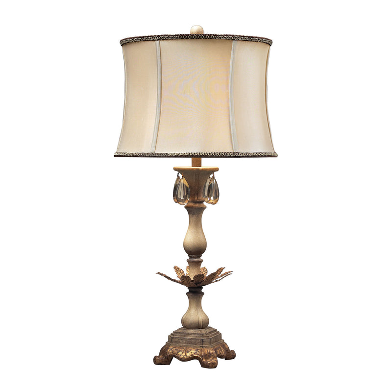 ACCENT LAMP IN CREAM AND SOFT GOLD - Sussex Stone With Gold