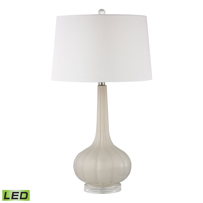 Abbey Lane Ceramic LED Table Lamp in Off White - Off-White