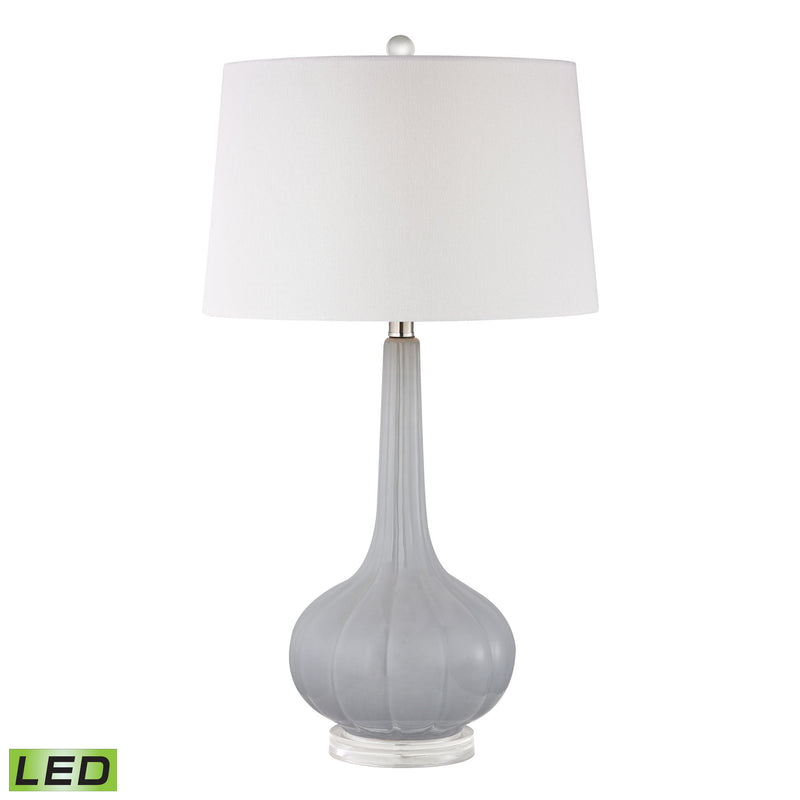 Abbey Lane Ceramic LED Table Lamp in Pastel Blue - Pastel Blue