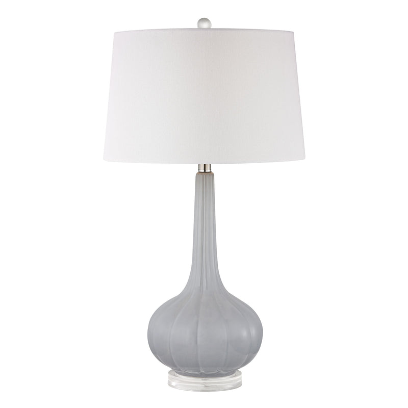 Abbey Lane Ceramic Table Lamp in Pastel Blue - Pastel Blue