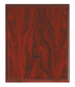 Woodgrain Plaque - Red