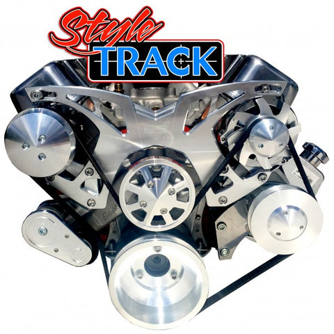 March Performance Chevy Big Black Style Track Serpentine Kit