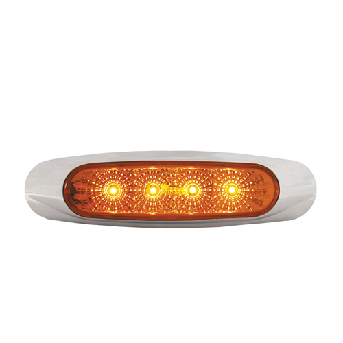 LED Side Marker Light Amber 12-24 Volt - LV0284