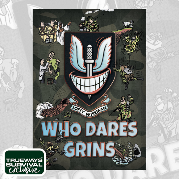 WHO DARES GRINS - EXCLUSIVELY SIGNED PAPERBACK BOOK