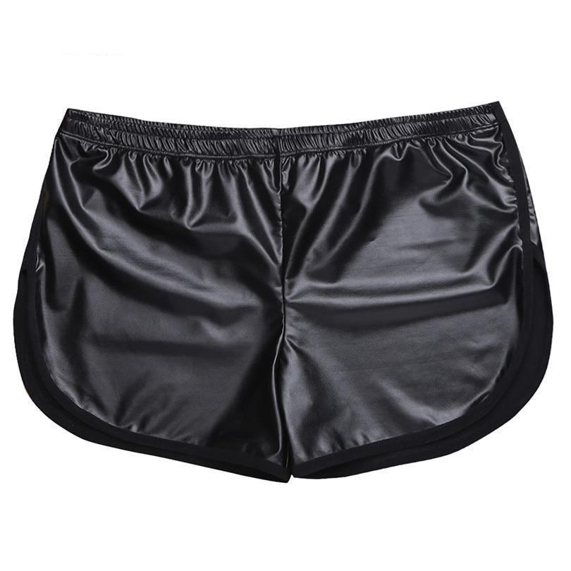 Men's Faux Patent Leather Circuit Shorts