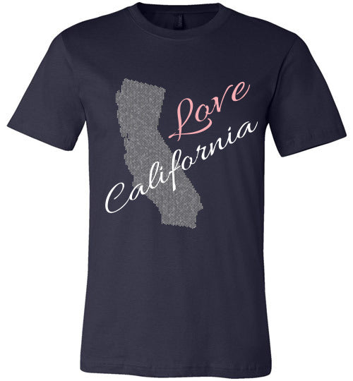 Love California Shirt - Unisex - Navy
