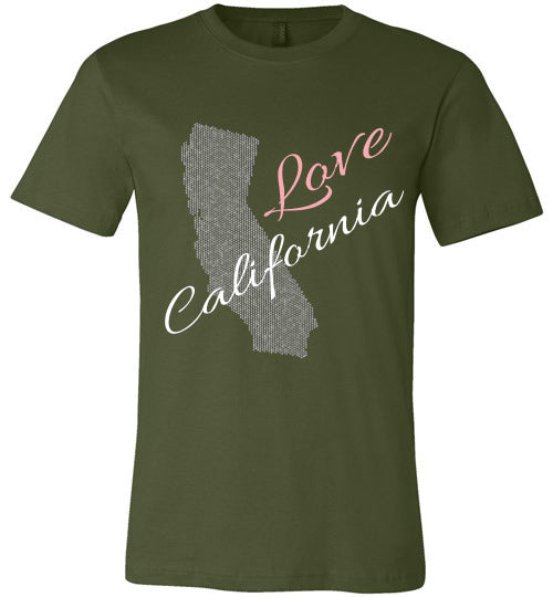 Love California Shirt - Unisex - Olive