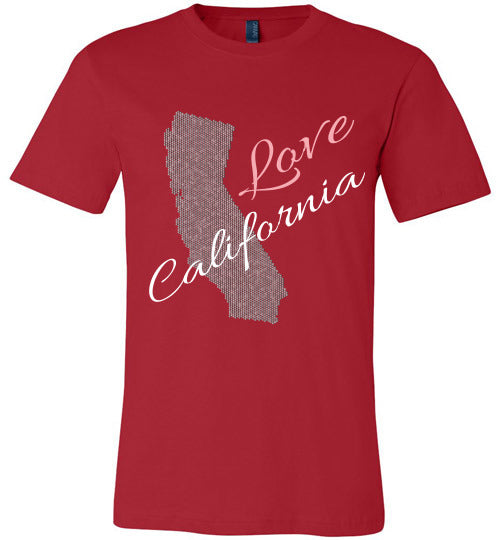 Love California Shirt - Unisex - Red