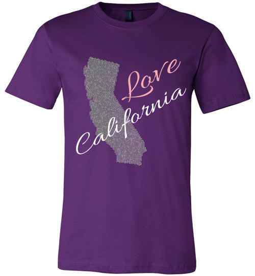 Love California Shirt - Unisex - Purple