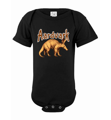 Infant Bodysuit - Aardvark - Black