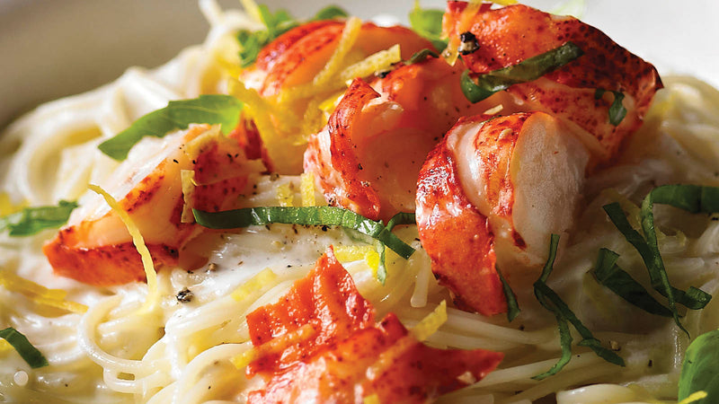 Fresh Maine Lobster Over Angel Hair Pasta