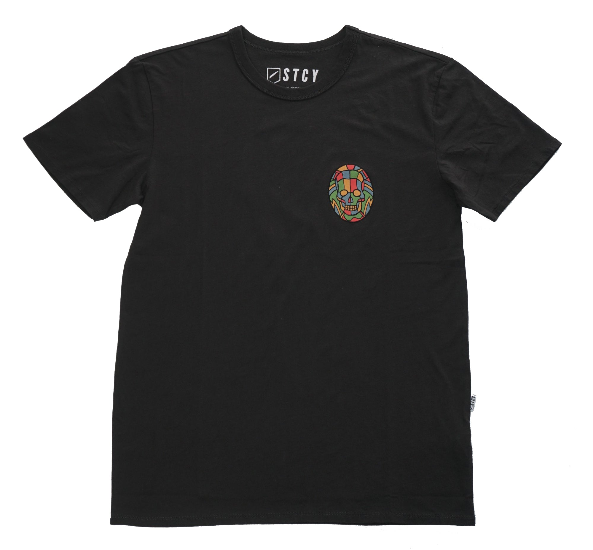 PEDRO STAINED GLASS TEE - BLACK