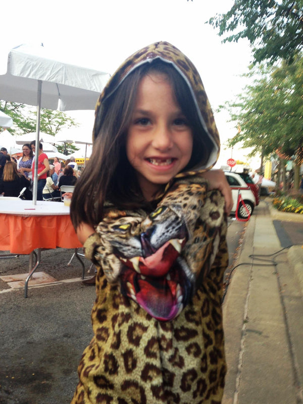 LEOPARD Hoodie Chomp Shirt for Girls by MOUTHMAN® - Valroy's