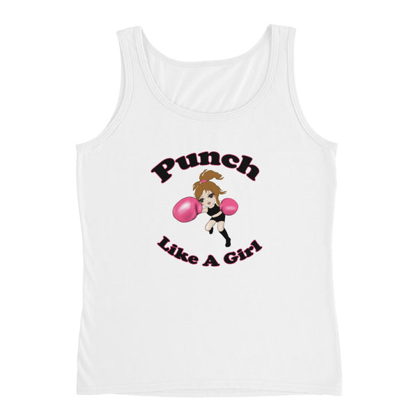Punch Like A Girl Mascot Ladies' Tank Top