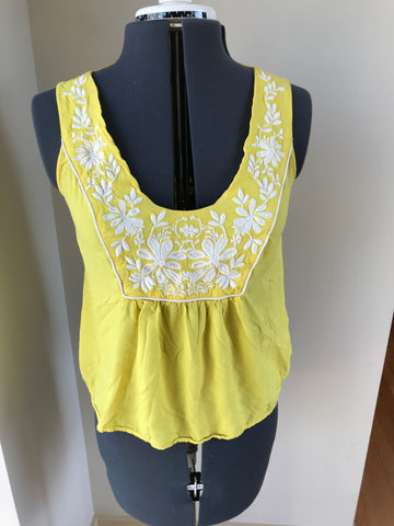 "Bohemian ""Anthropologie Like"" Floral Embroidered Stitch Top - Sz 1/Small - HEART 'n' SLEEVE"