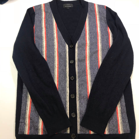 J. Crew Cashmere Vintage Looking Pin Striped Cardigan - Small - HEART 'n' SLEEVE