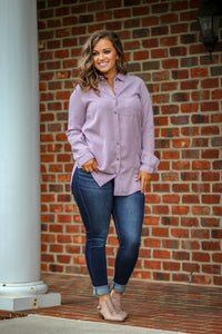 Dusty Purple Button Down Shirt