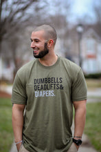 Diapers Deadlifts and Dumbbells Graphic Men's T Shirt