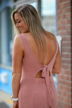 Z Supply Madeline Tie-Back Dress in Old Rose