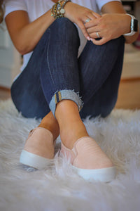 Blush Snakeskin Sneakers