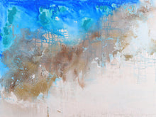 Ocean Meet Sand by Courtney Pals, Mixed Media on Canvas
