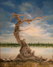 Life Tree by Ray Pazekian, Oil on Canvas (Framed)