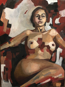 Red Nude by Daniel Adkins, Oil on Canvas