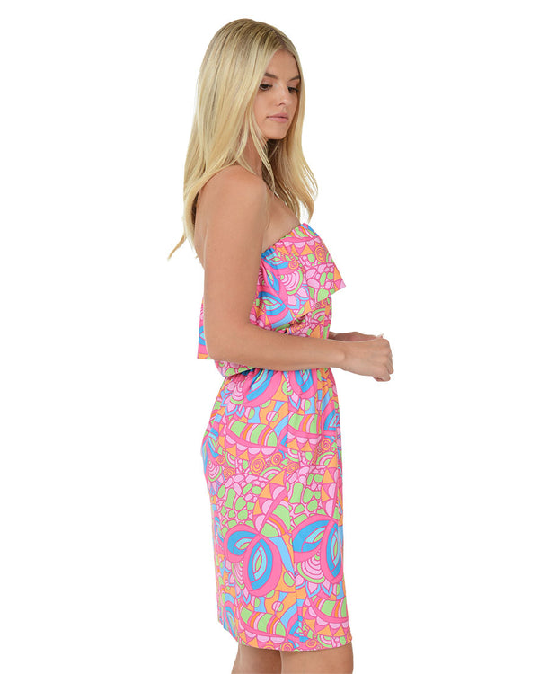 Providenciales Mini Ruffle Dress