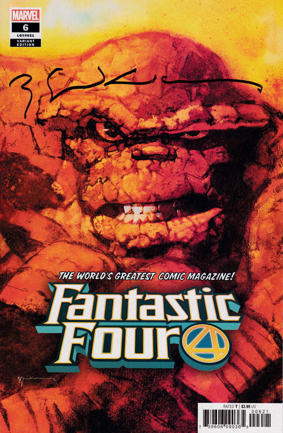 Fantastic Four #6 The Thing Portrait Variant