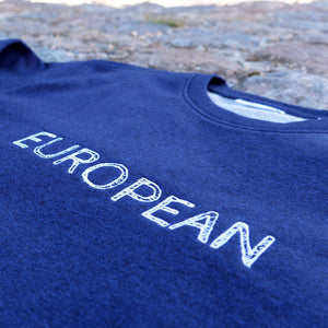 EUROPEAN Sweater Men - White statement - European By Choice