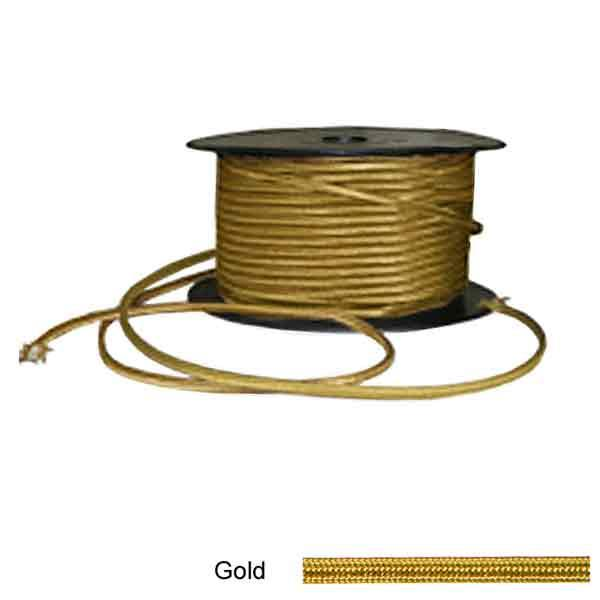 Gold Rayon Covered Twin Lamp Wire