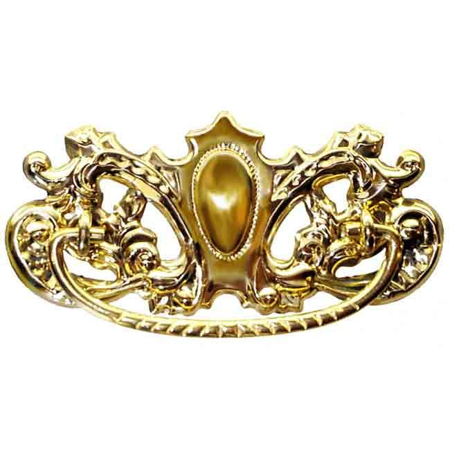 Bold Victorian Stamped Brass Drawer Pulls