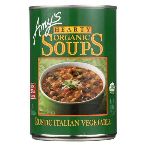 Amy's Organic Soup - Vegetarian Hearty Italian - Case of 12 - 14 oz