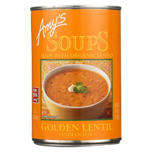Amy's Soup - Organic - Lentil - Golden - Case of 12 - 14.4 oz
