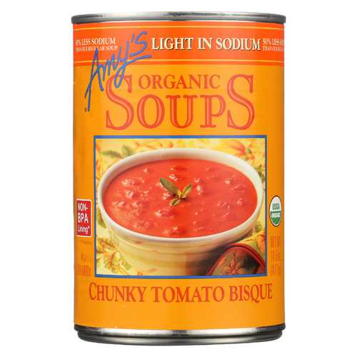 Amy's Organic Chunky Tomato Soup - Case of 12 - 14.5 oz