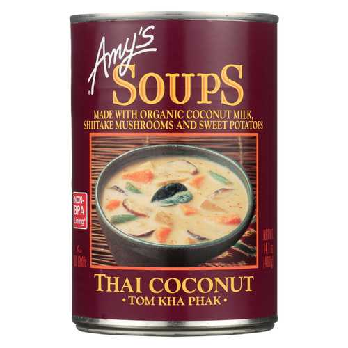 Amy's Soup - Tom Kha Phak Thai Coconut - Case of 12 - 14.1 oz