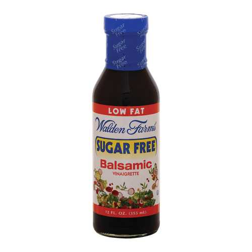 Walden Farms Vinaigrette - Sugar Free Balsamic - Case of 6 - 12 fl oz