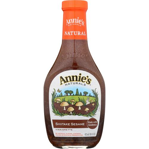 Annie's Naturals Vinaigrette Shiitake and Sesame - Case of 6 - 16 fl oz.