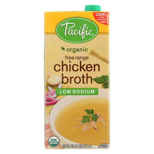 Pacific Natural Foods Organic Low Sodium Broth - Chicken - 32 fl oz