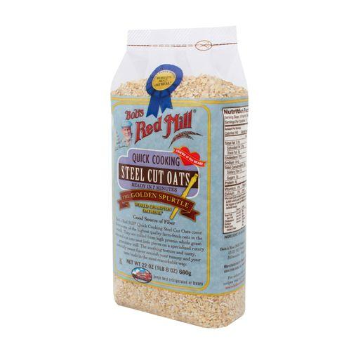 Bob's Red Mill Quick Cooking Steel Cut Oats - 22 oz - Case of 4