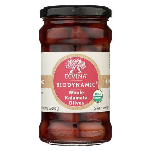 Divina Olives - Organic - Kalamata - Whole - Case of 6 - 6.35 oz